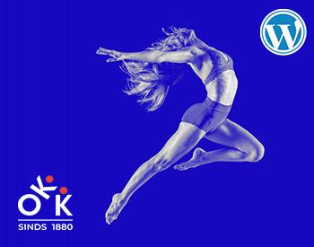 Wordpress website voor gymnastiekvereniging