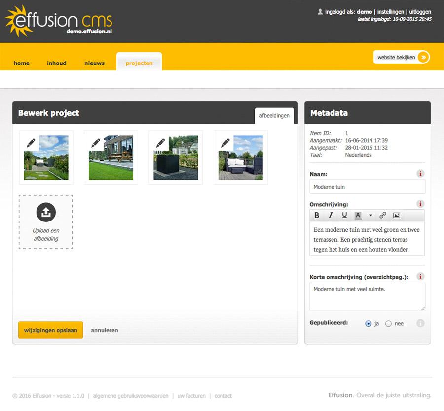 Maatwerk: beheer van projecten met foto's
