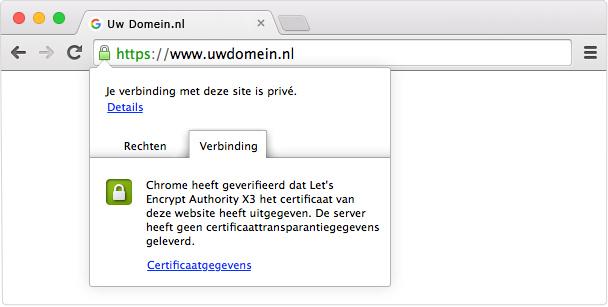 voorbeeld van een ssl certificaat