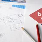 Stap 3: drie (schets)voorstellen / logo ontwerp