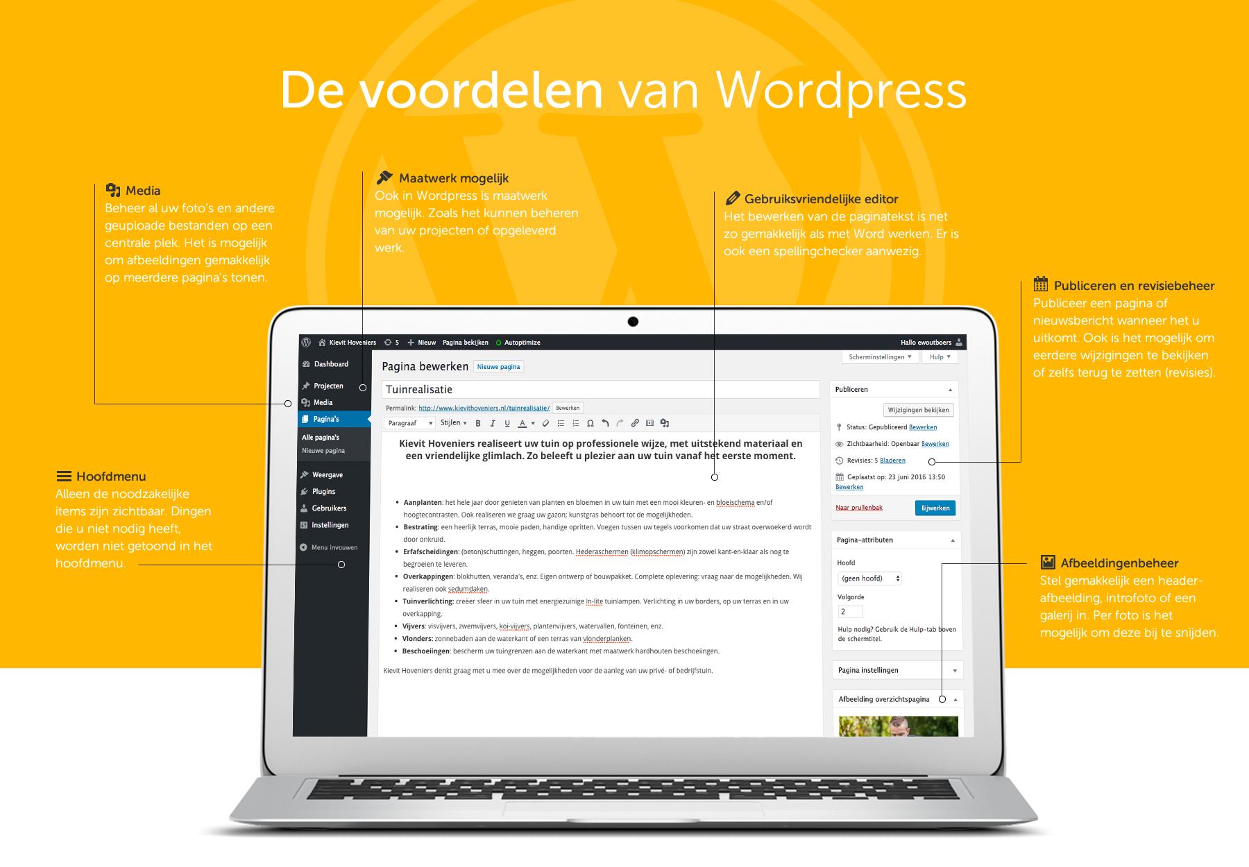 De voordelen van Wordpress